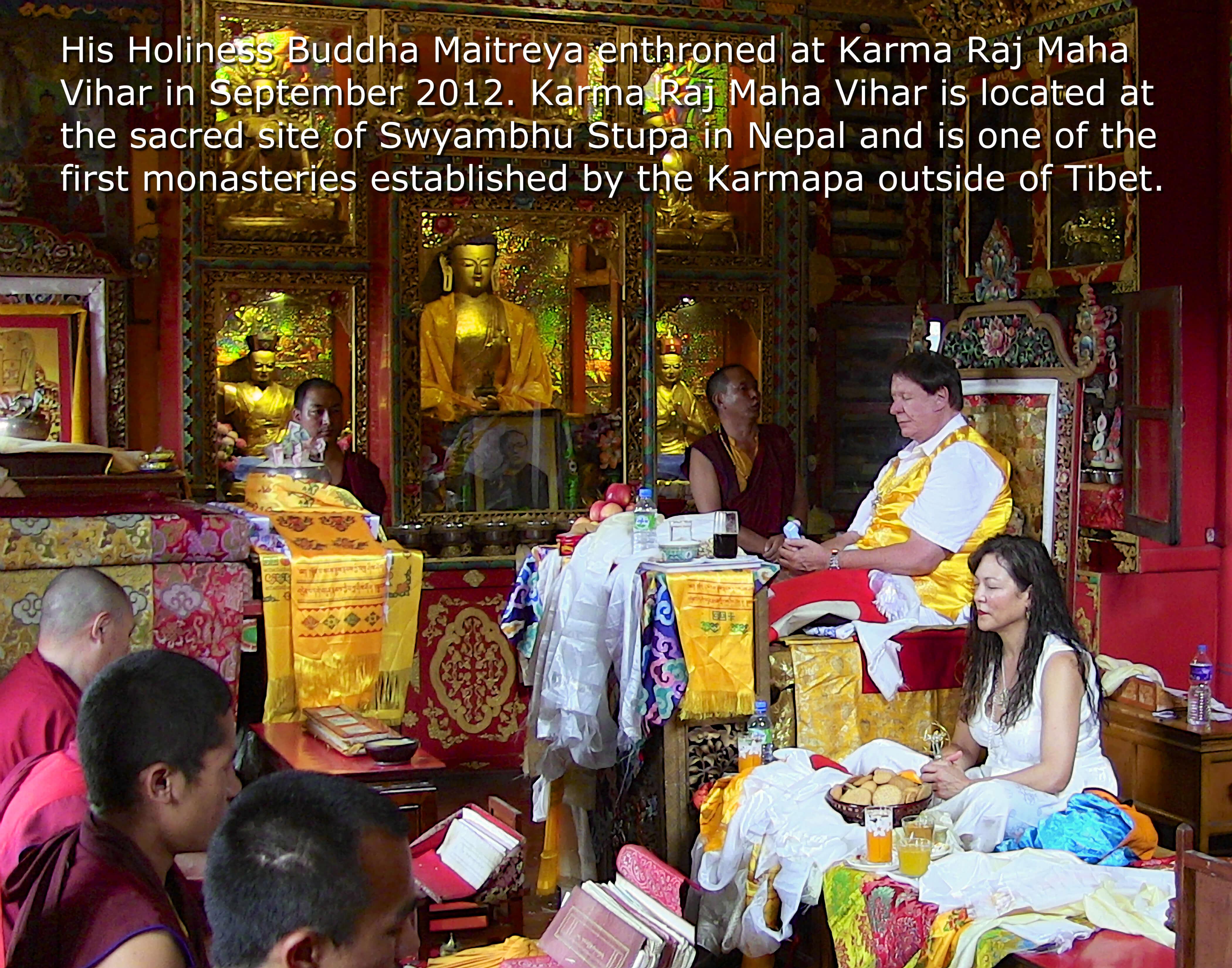 Buddha Maitreya Enthroned at Karma Raj