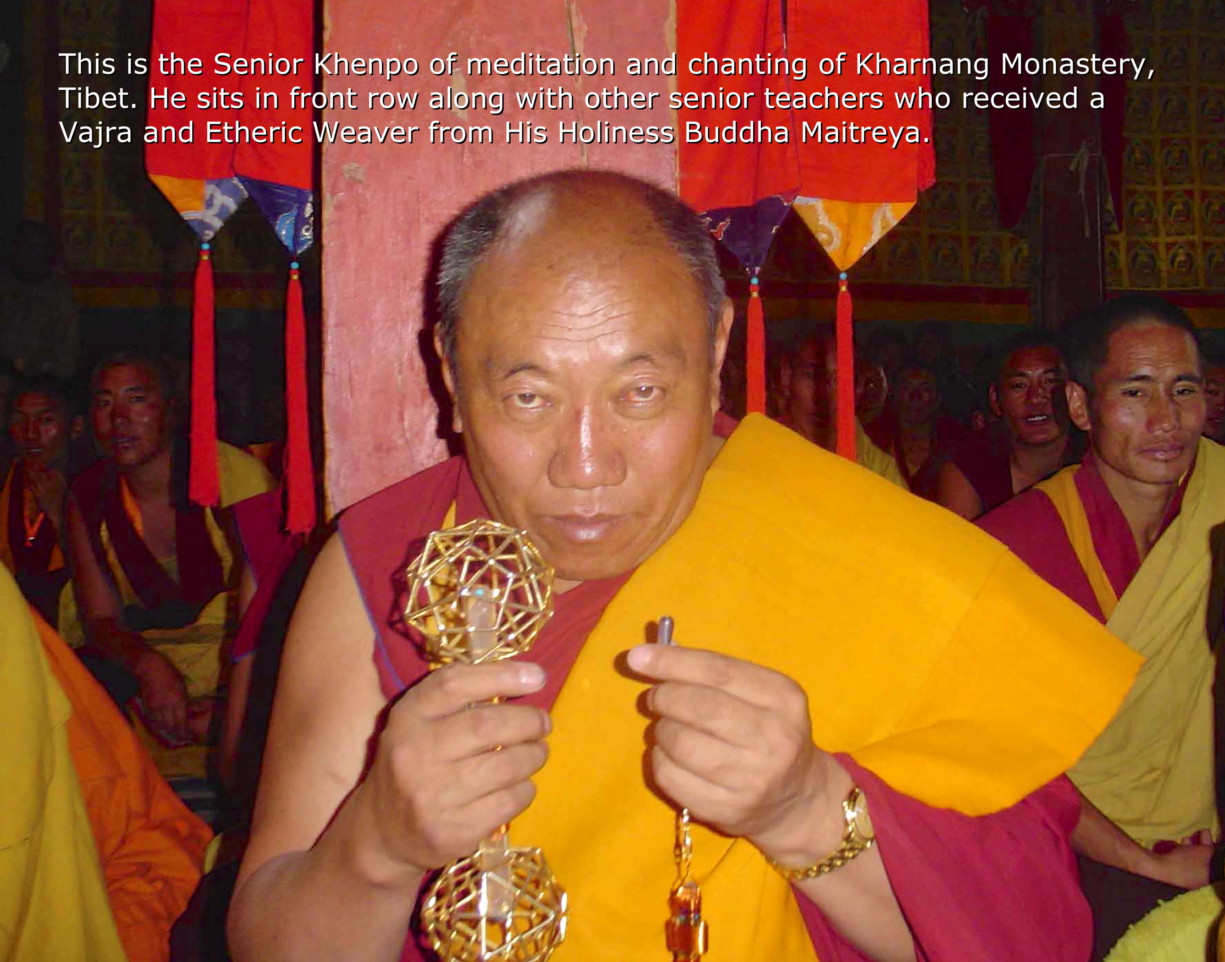 Buddha Maitreya and Khenpo of Kharnang