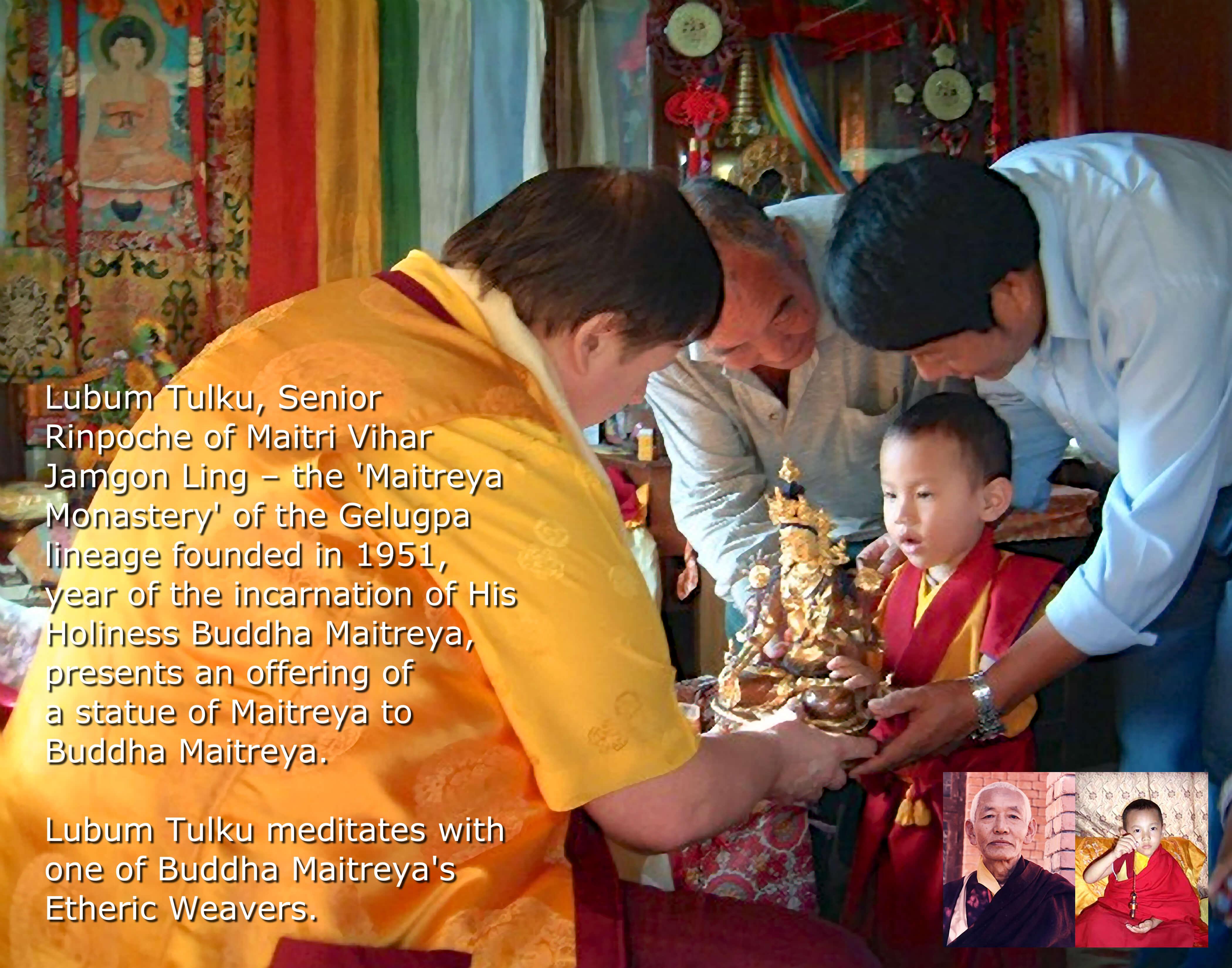 Buddha Maitreya with Lubum Tulku