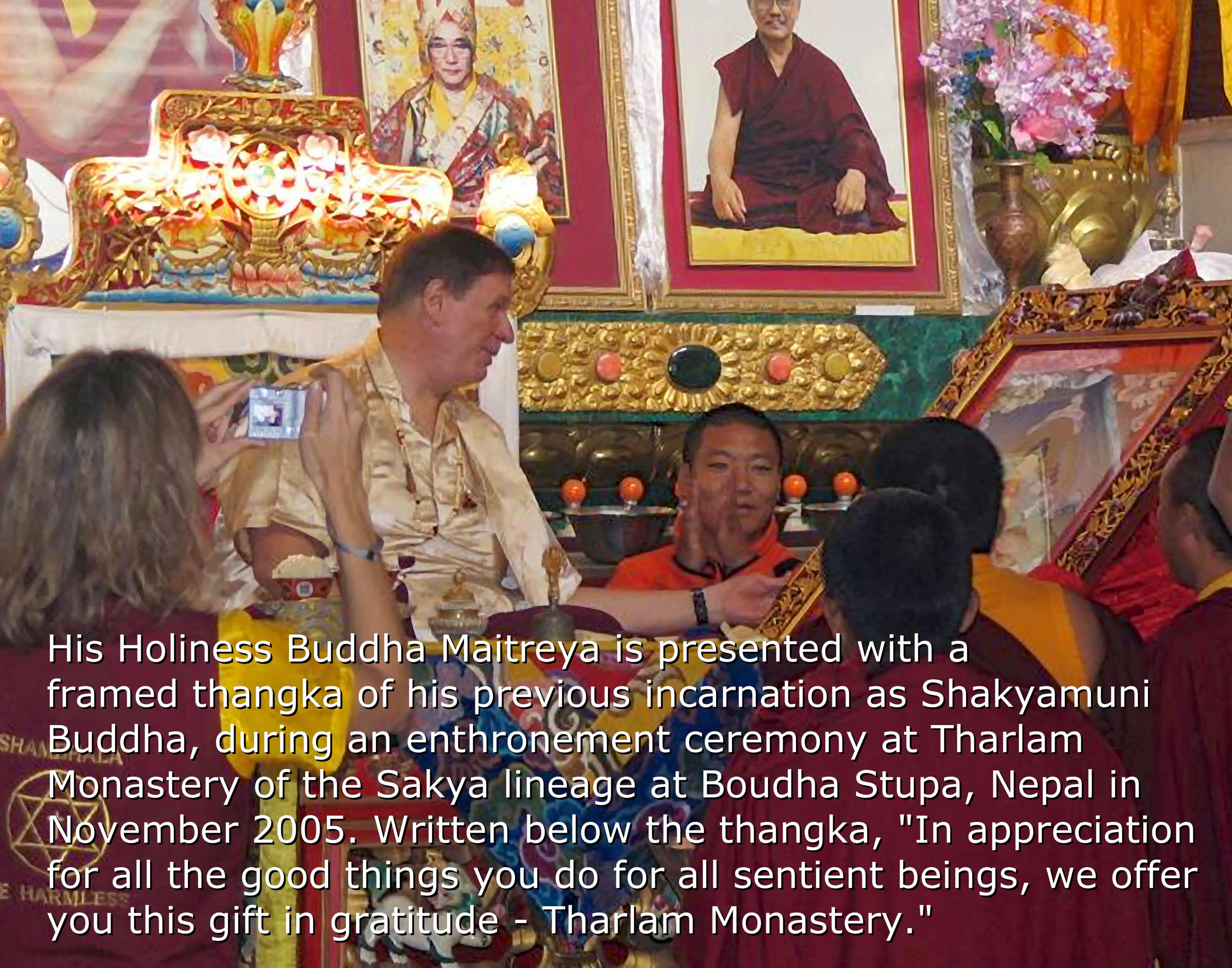 Buddha Maitreya Enthroned at Tharlam Monastery