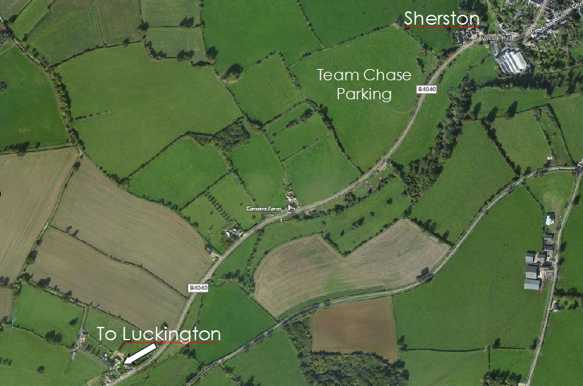 Map of Beaufort Hunt Team Chase