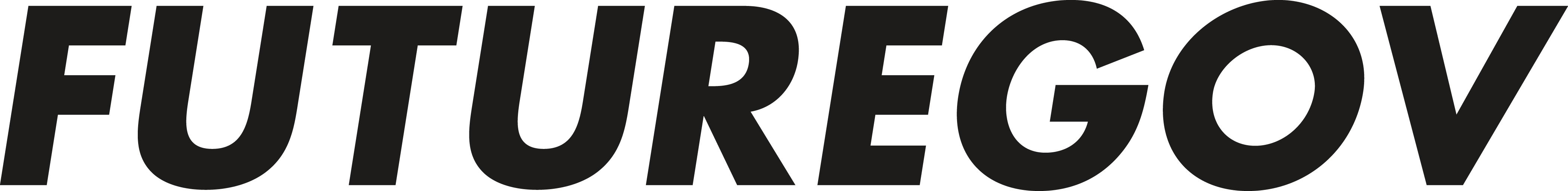Futuregov written in caps in black