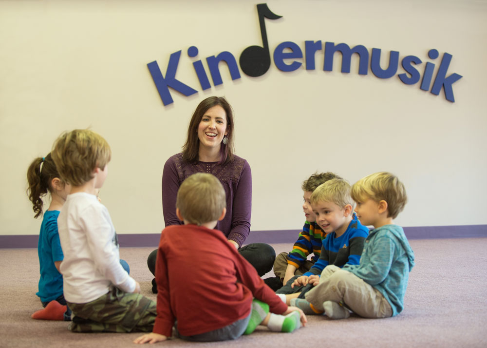 Photo of a Kindermusik classroom