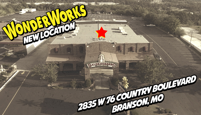 WonderWorks Expands To Branson With Its Sixth Location