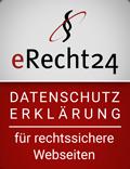 ERecht24 - Logo - Datenschutz Erklärung für rechtssichere Webseiten