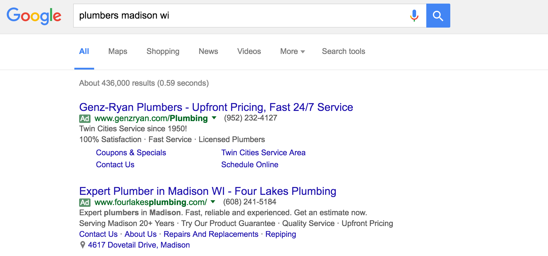 search for plumbers