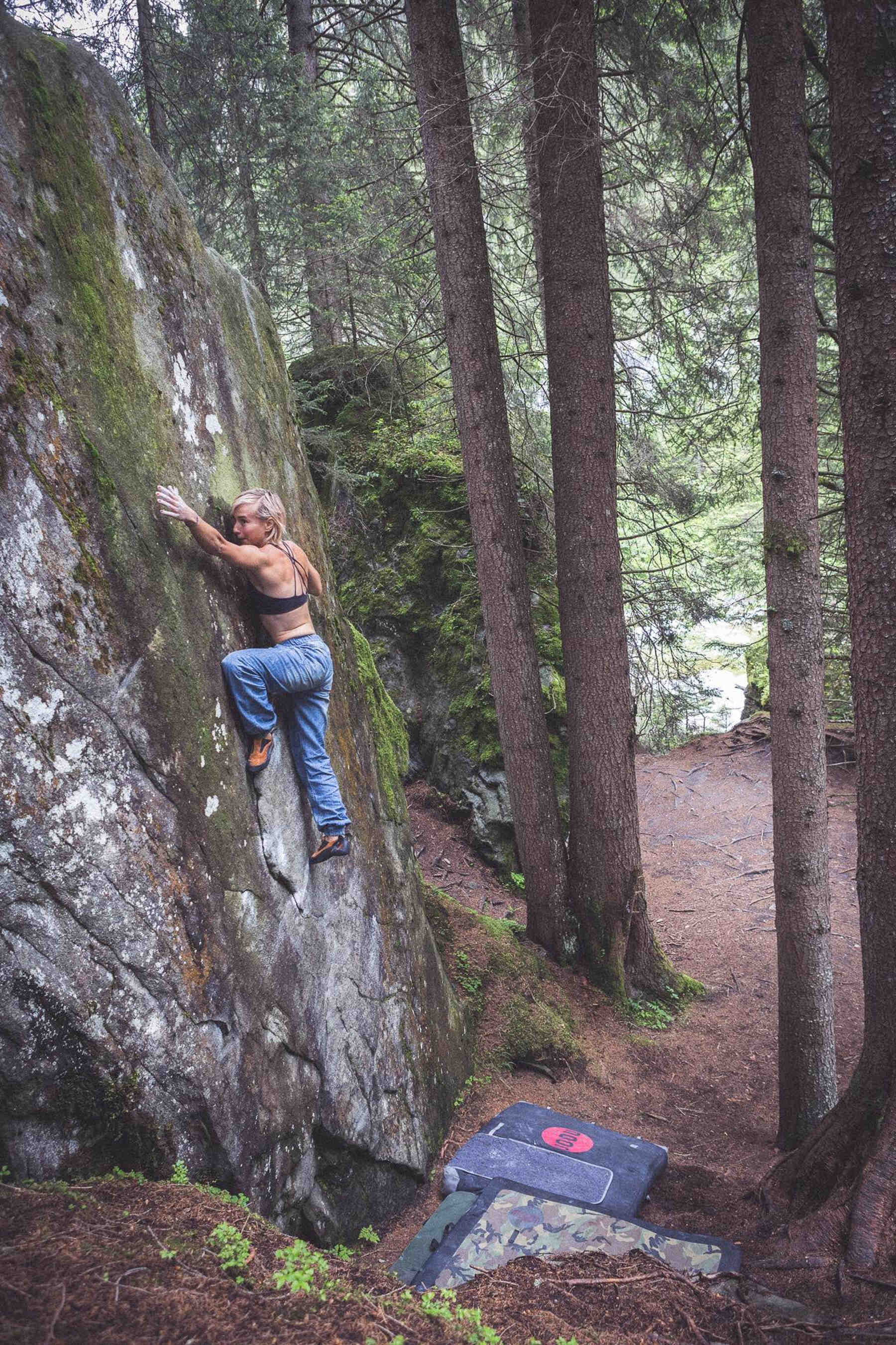 Zofia Reych, FrictionLabs rock climbing chalk pro athlete, Magic Wood, Chur, Switzerland