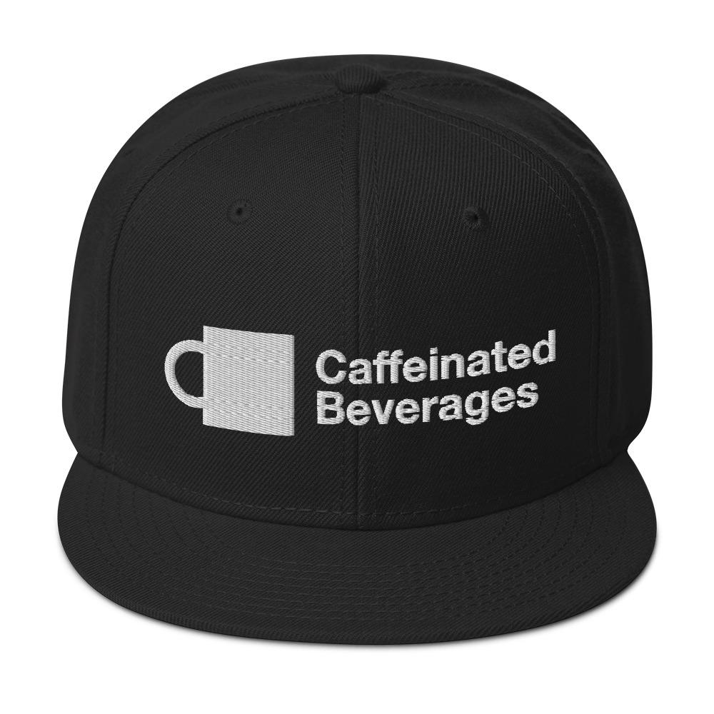 Caffeinated Beverages Logo Snapback Hat