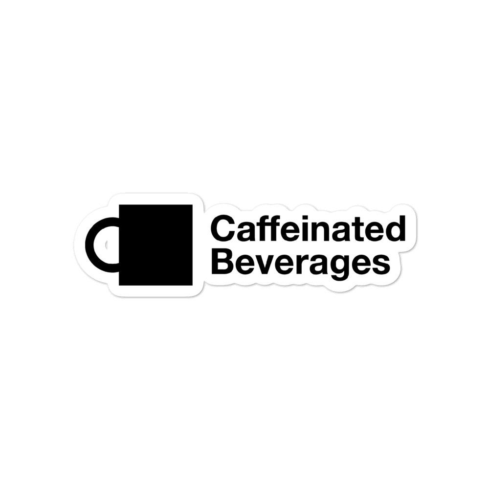 Caffeinated Beverages Logo Sticker