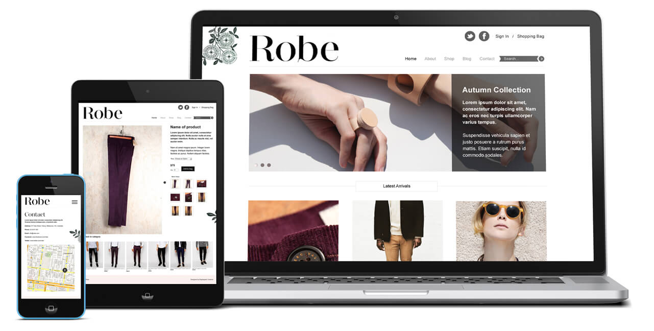 Robe website showcase