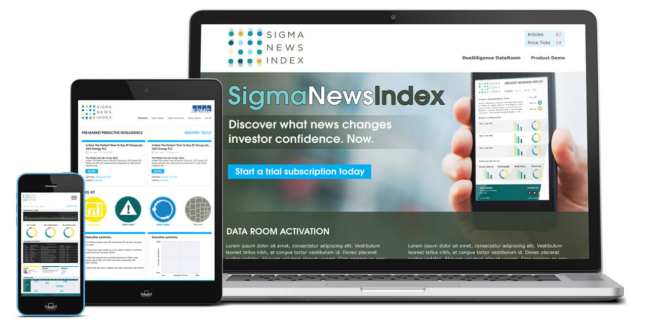 Sigma News Index website