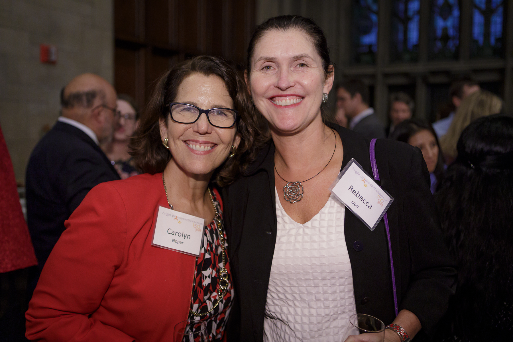 2018 Awards guests Carolyn Nopar (left) and Rebecca Darr (right) (Photo by Stephen J. Serio Photography)