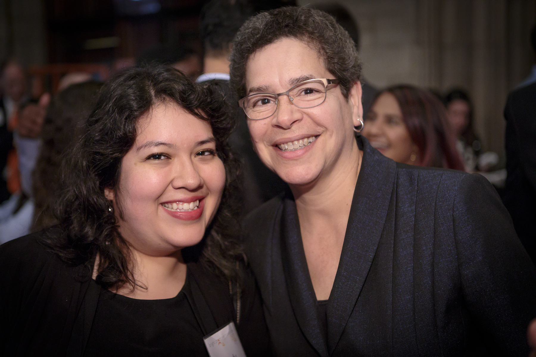 Polk Brothers Foundation Vice President Evette Cardona (right) with  Cindy Camacho (left). (Photo by Pablo Poncee)