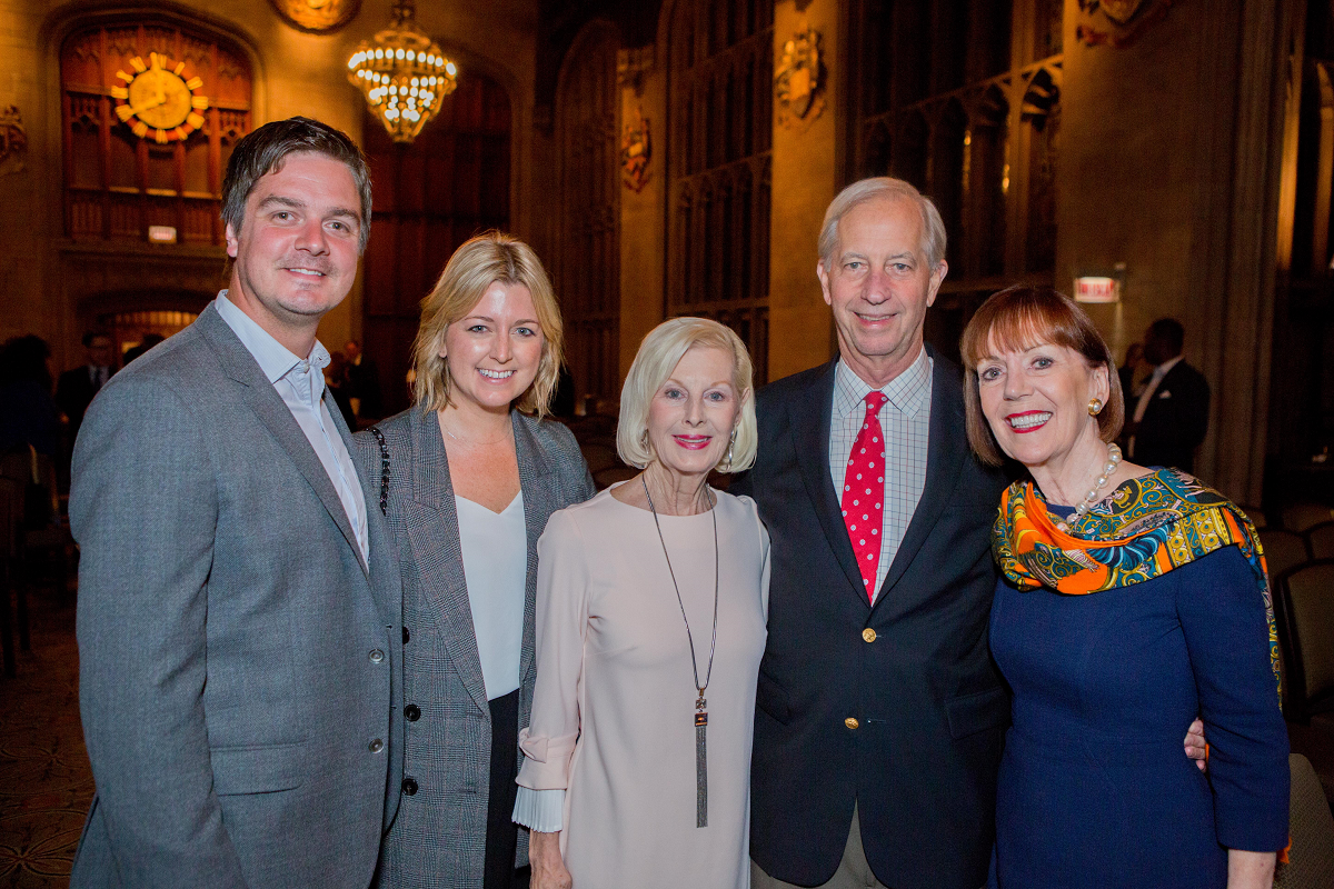 Chad and Shauna Gardner (left), Nancy Hare (center) with Bright Promises Foundation Board Director Rodger Owen and wife Janet Owen (right). (photo by Pablo Poncee)