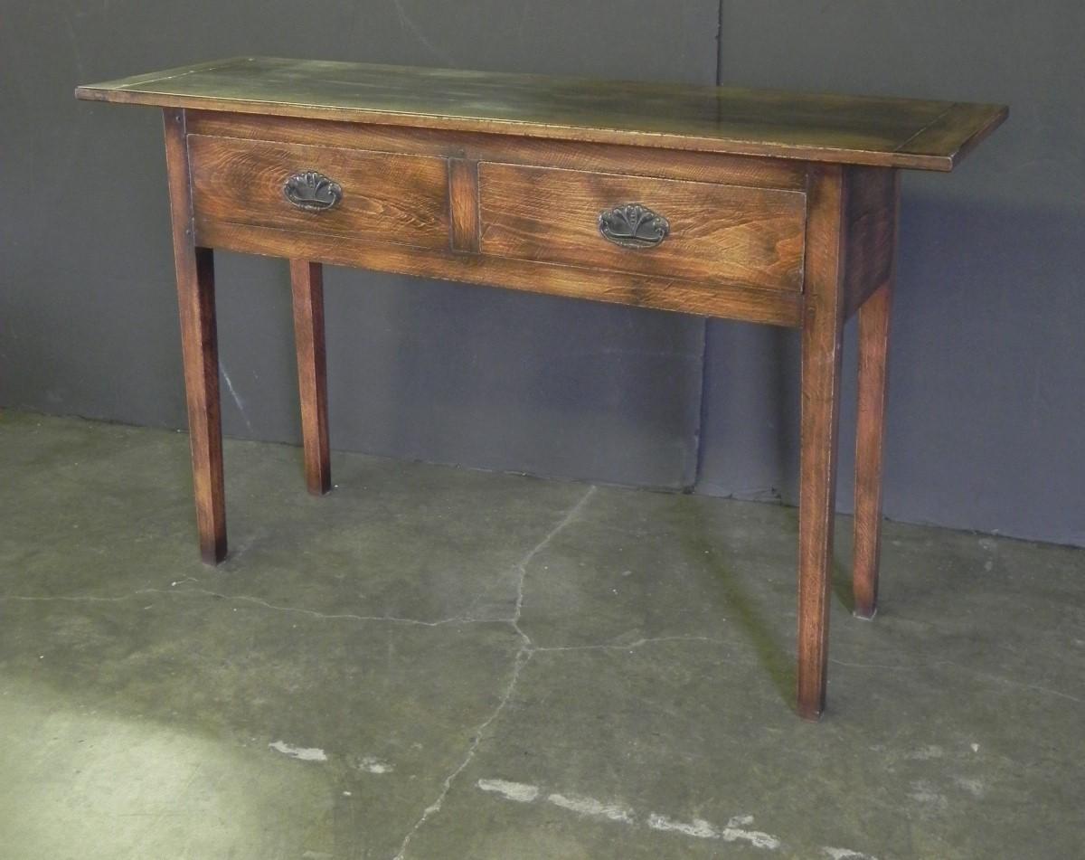 Rustic oak 2 drawer server