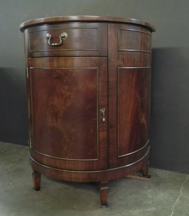 Mahogany round console table
