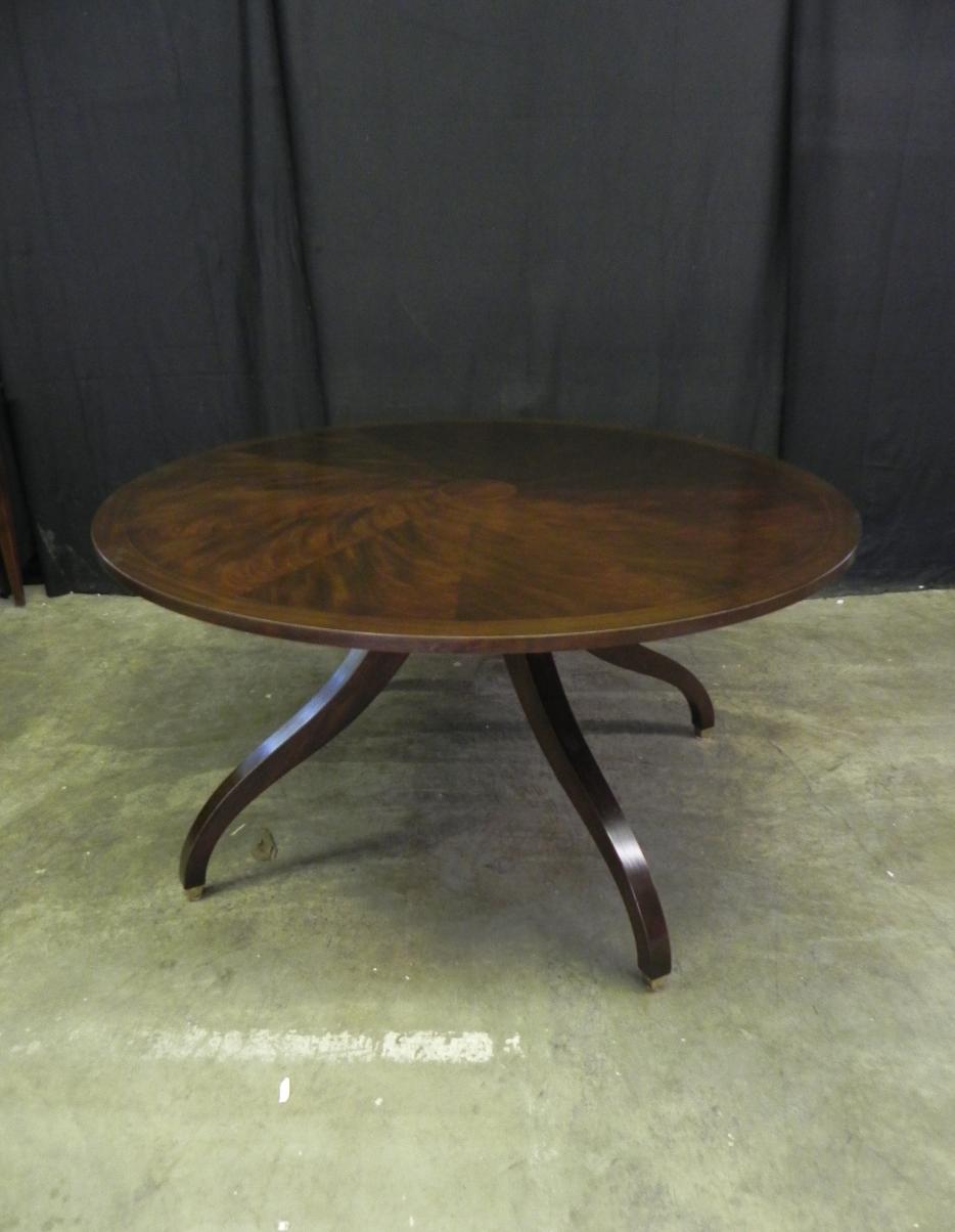 Custom segmented top spider base pedestal table