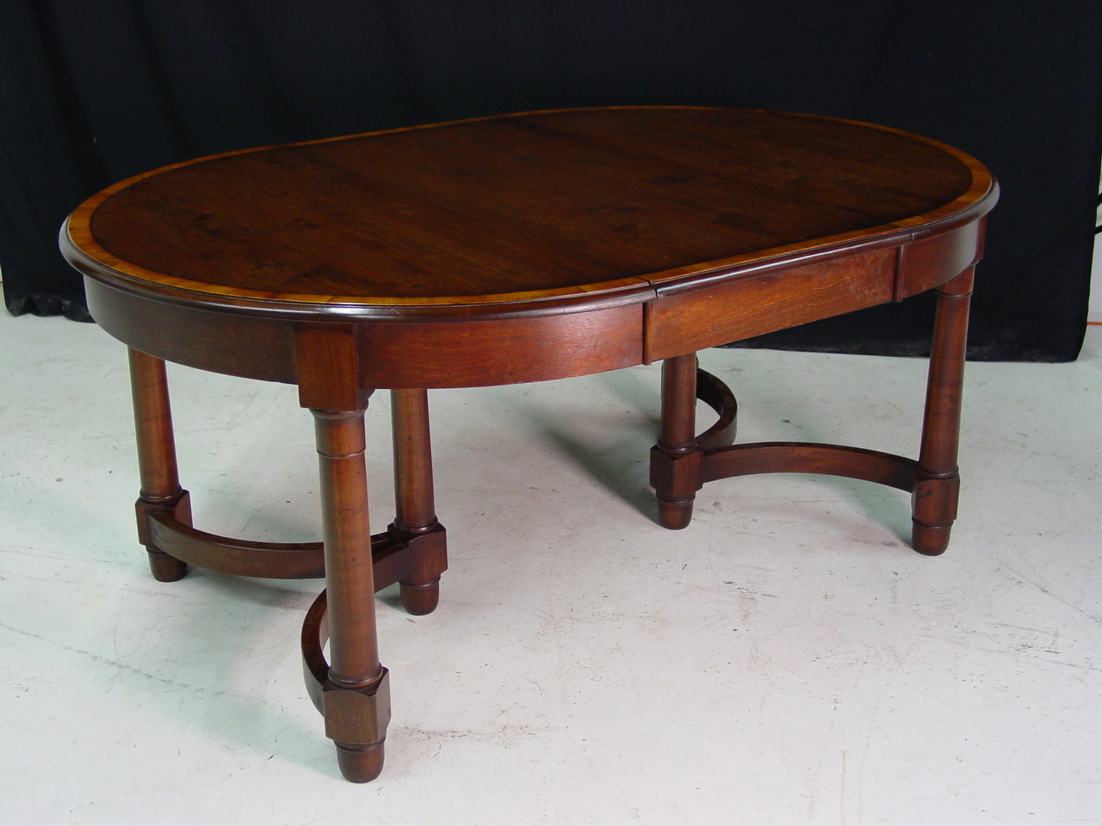 Custom round cherry table with leaf