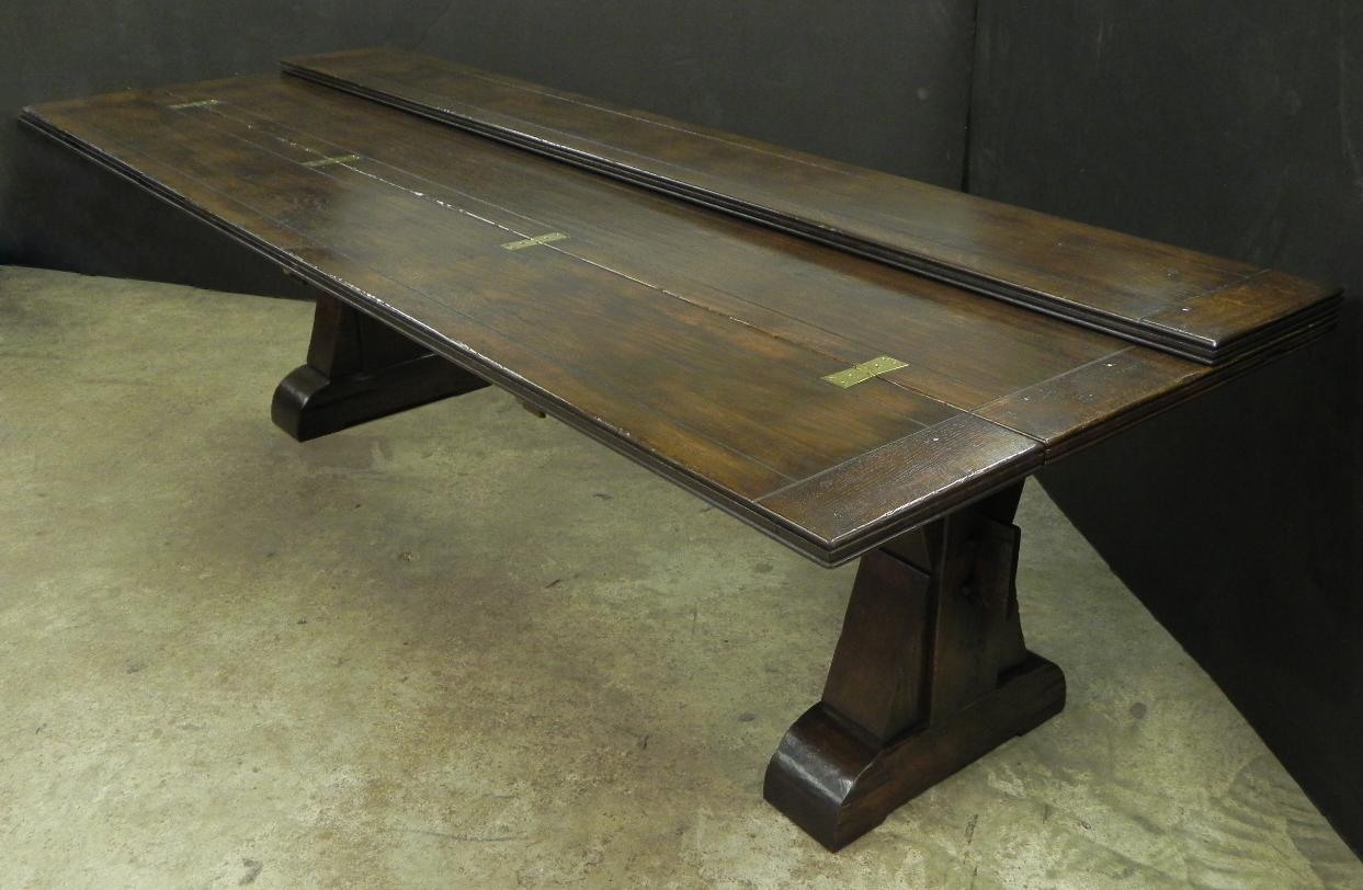 Custom oak fold out buffet table