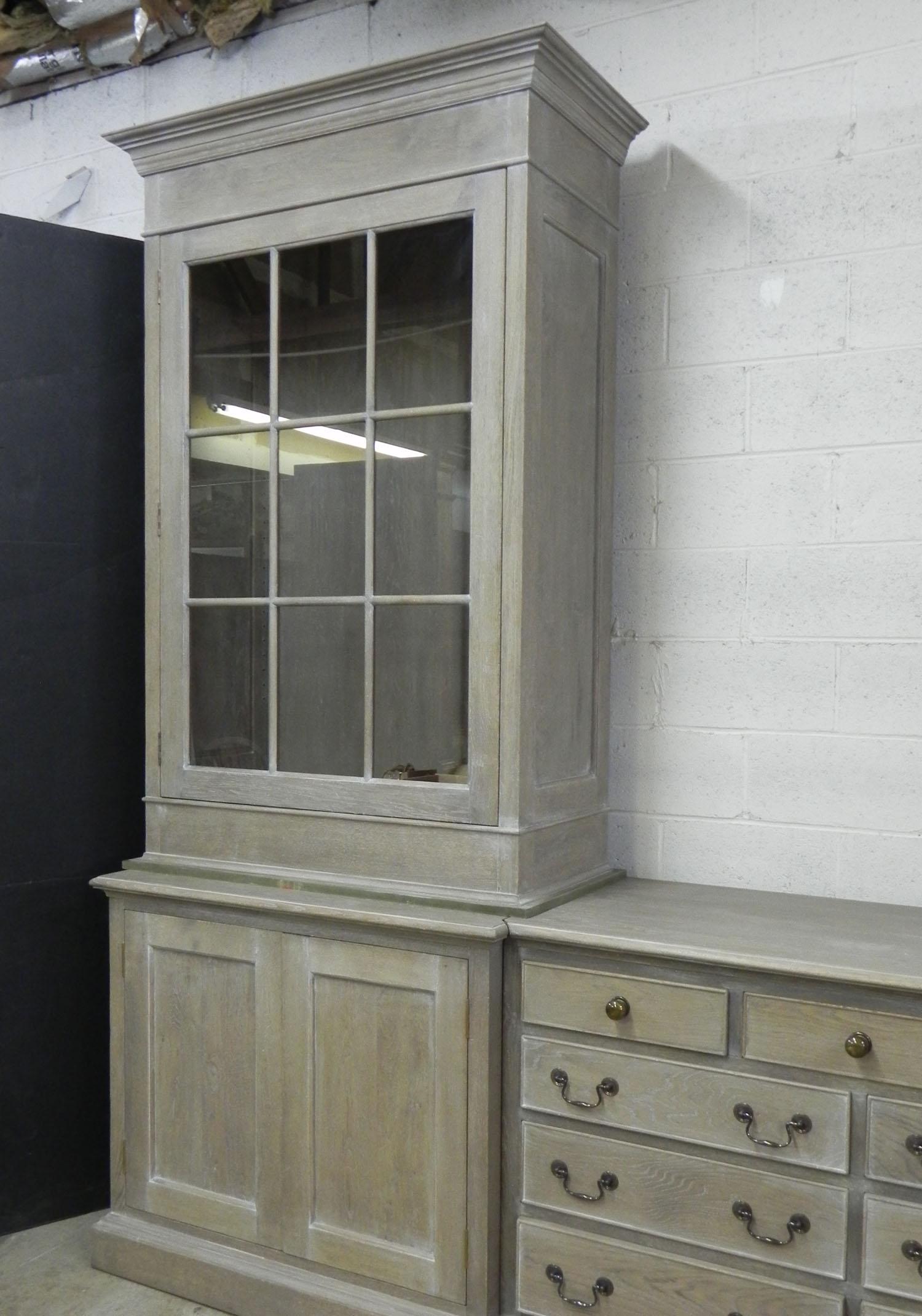 Custom dining room display cabinet in oak