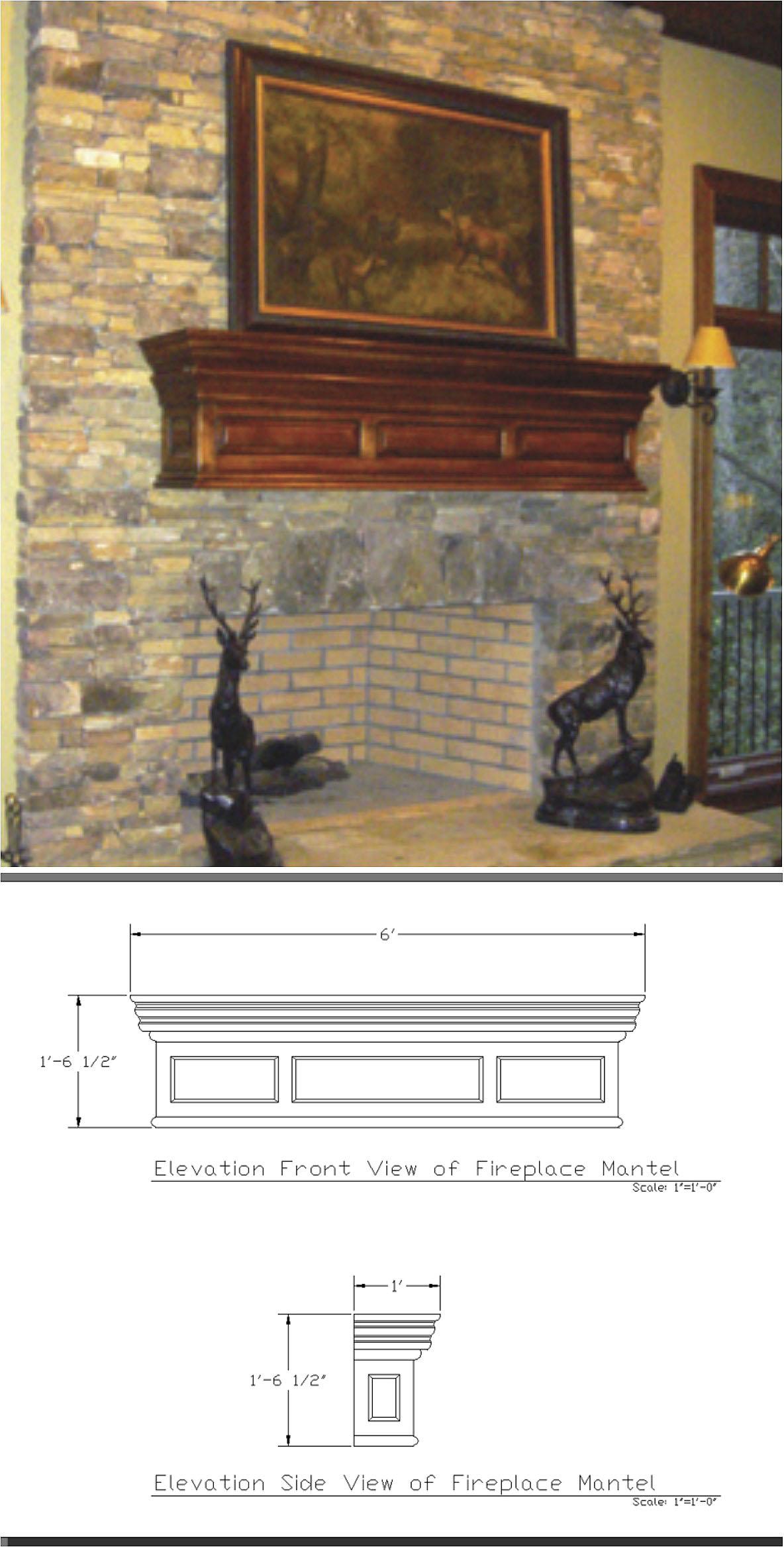Custom design wooden fire mantle