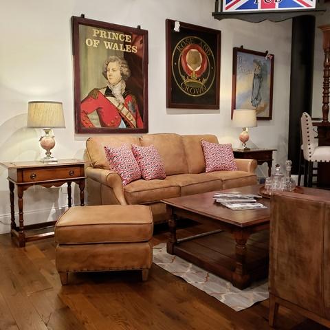 Victoria Leather sofa