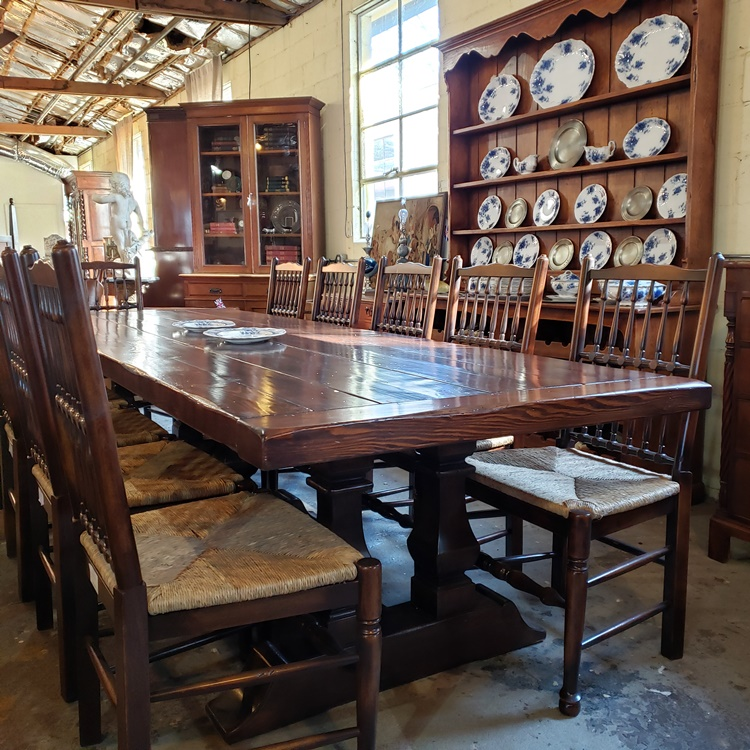 Dining tables and chairs for your home, trestle base refectory table
