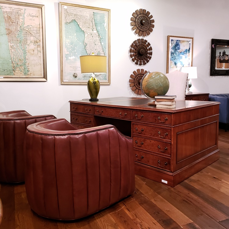Desks and leather chairs for your home office or business