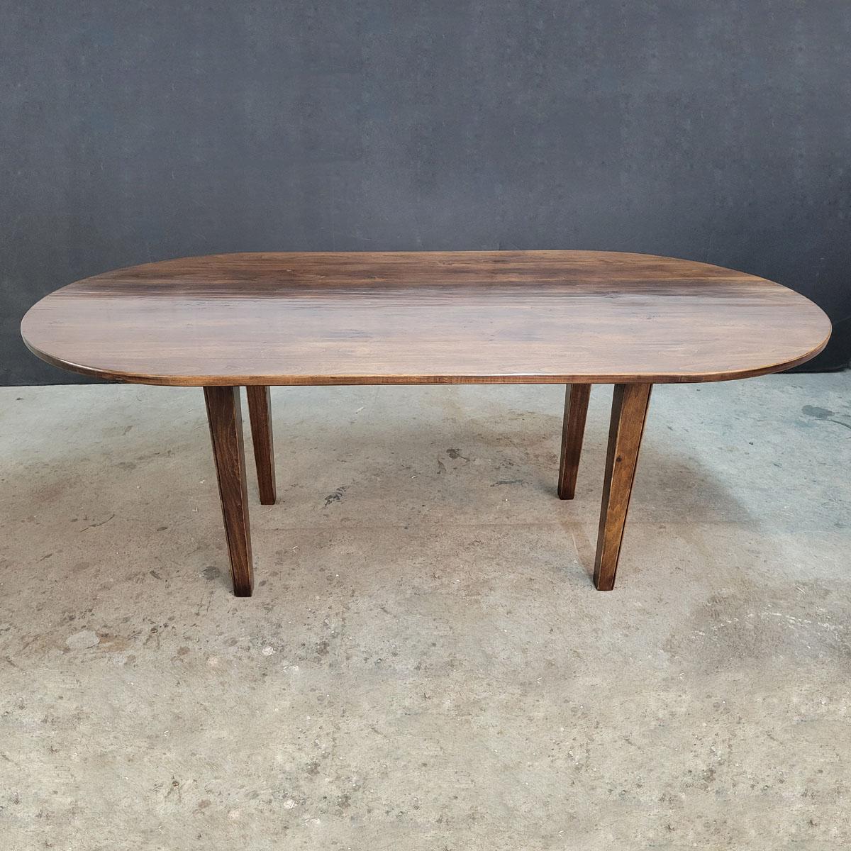 Custom racetrack top farmhouse table