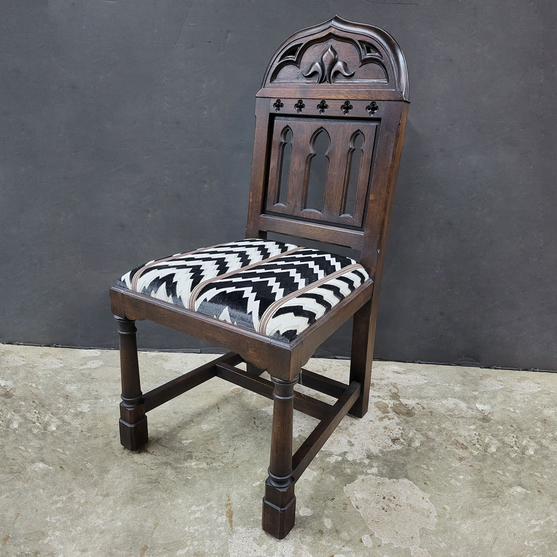 Custom design Gothic chapel chair