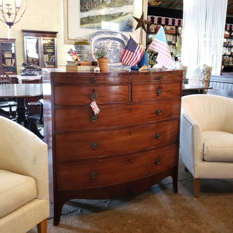 Imported English antique chest of drawers