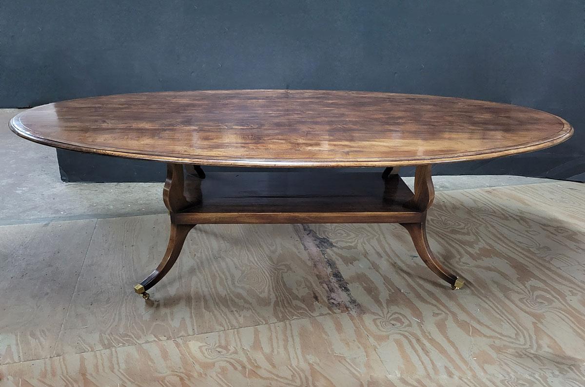 custom bar height table on 4 leg pedestal