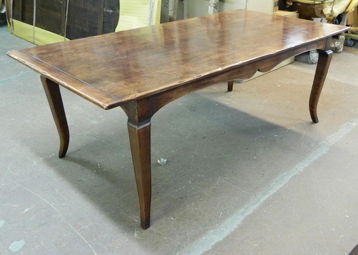 French leg farmhouse table