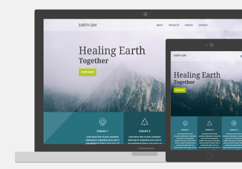 Earth Day Website Project Thumbnail