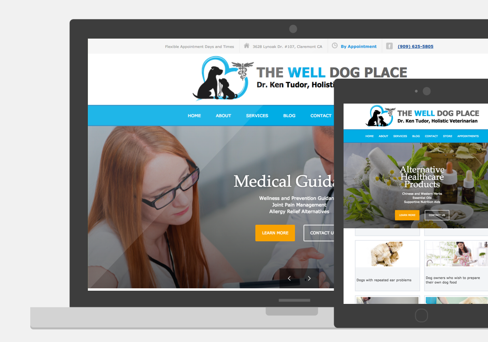 The Well Dog Place Responsive Web Design