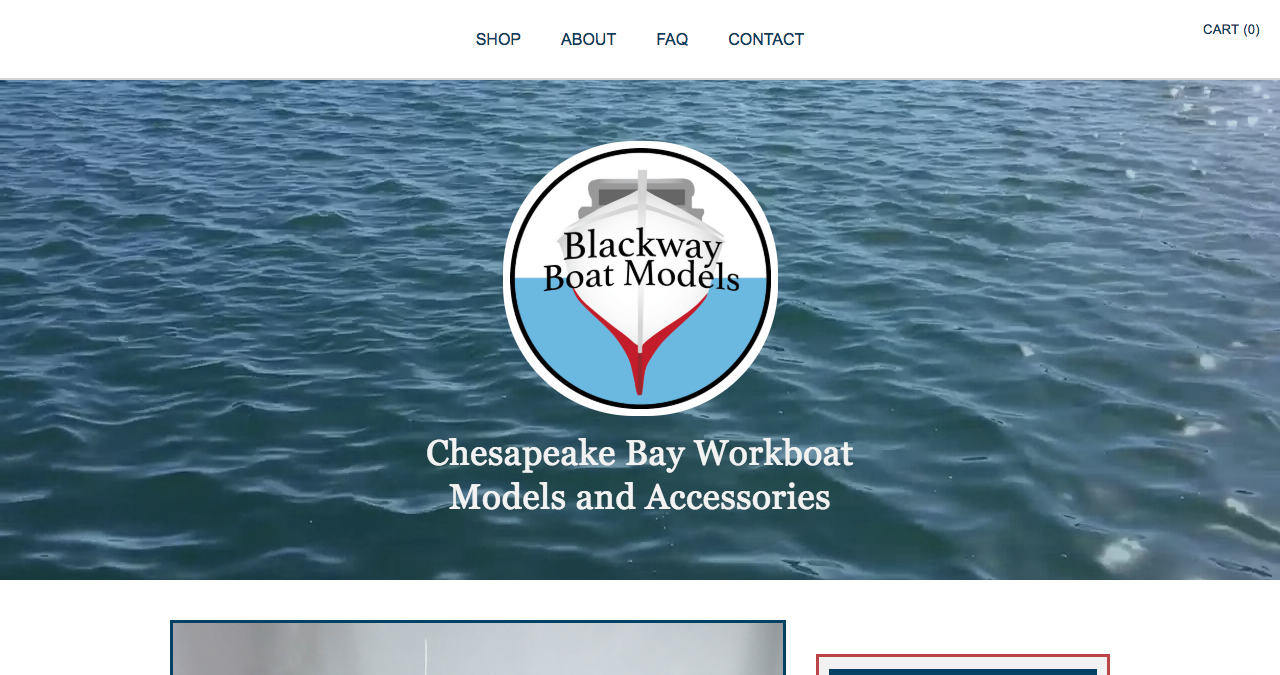 Photo of Blackway Boat Models website