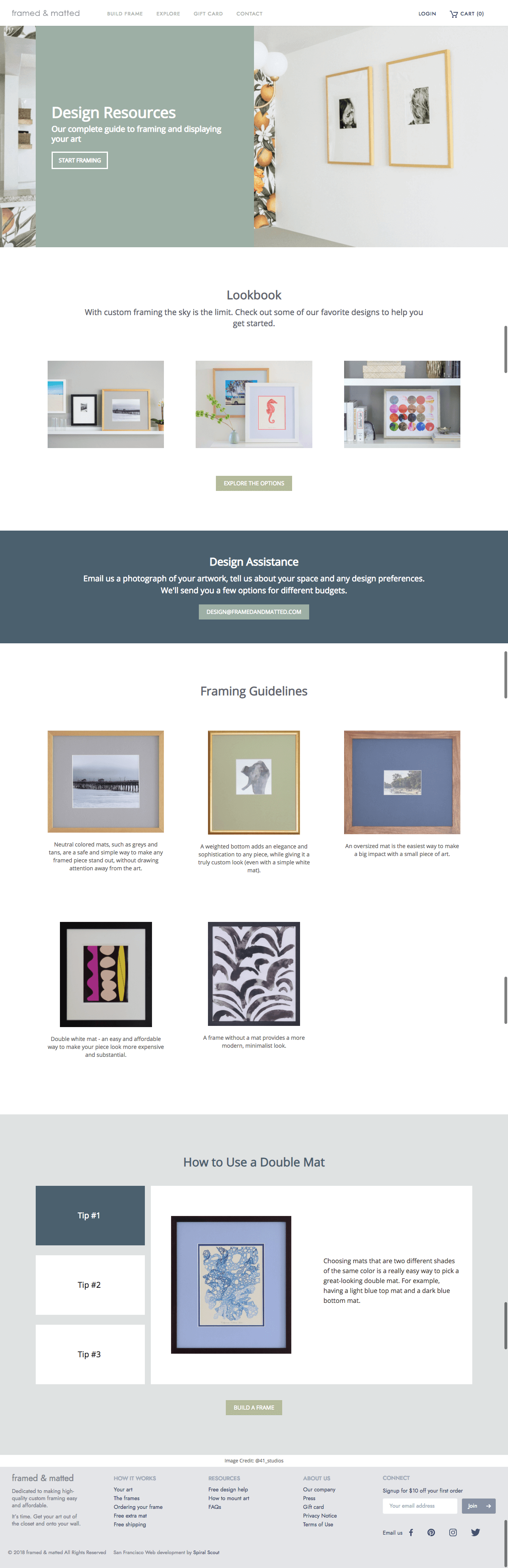 Framed and Matted Design Resources After