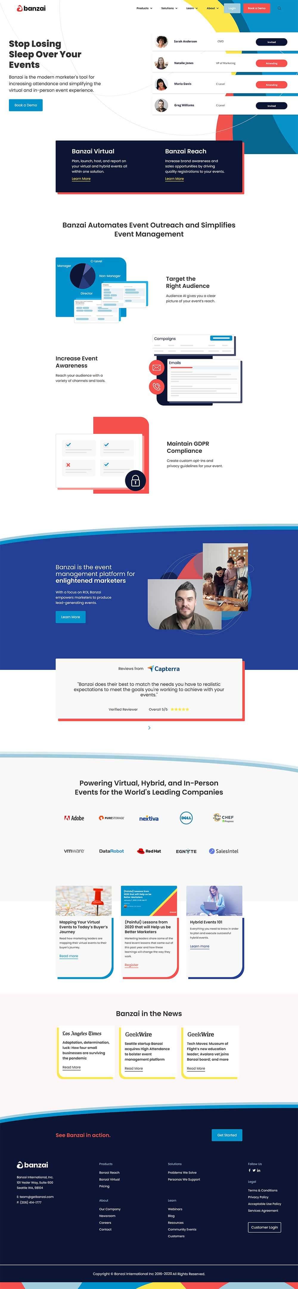 Banzai's new home page