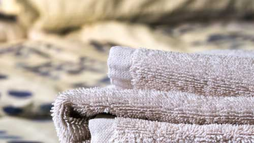 Fresh, clean towels. Duvets, sheets & pillowcases too
