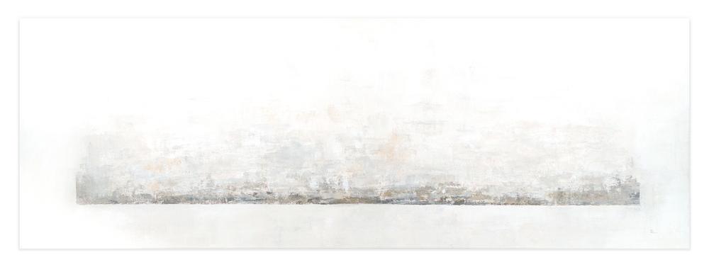 Obra Alondra colgada en pared blanca