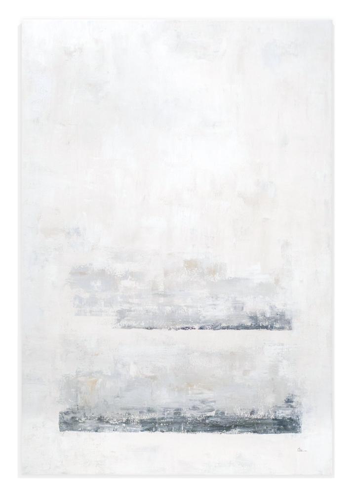 Obra Ananda colgada en pared blanca