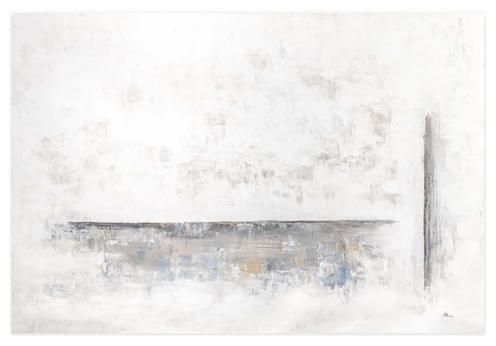 Obra Serie 15 colgada en pared blanca