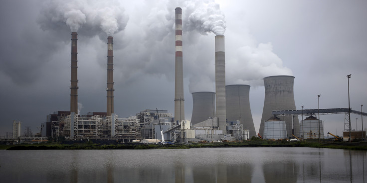Power plant with many chimneys portraying grid resilience