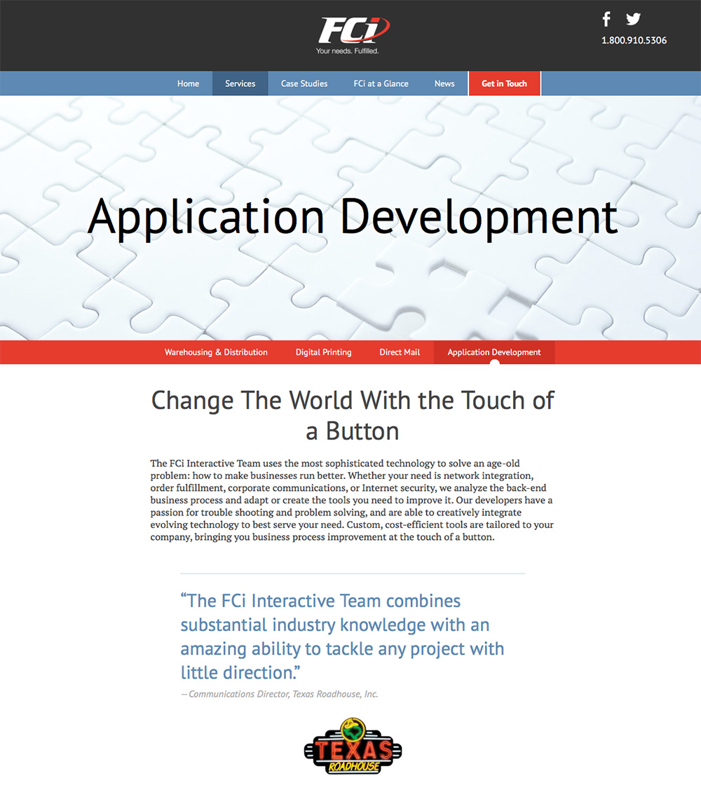 Application Development Page Preview