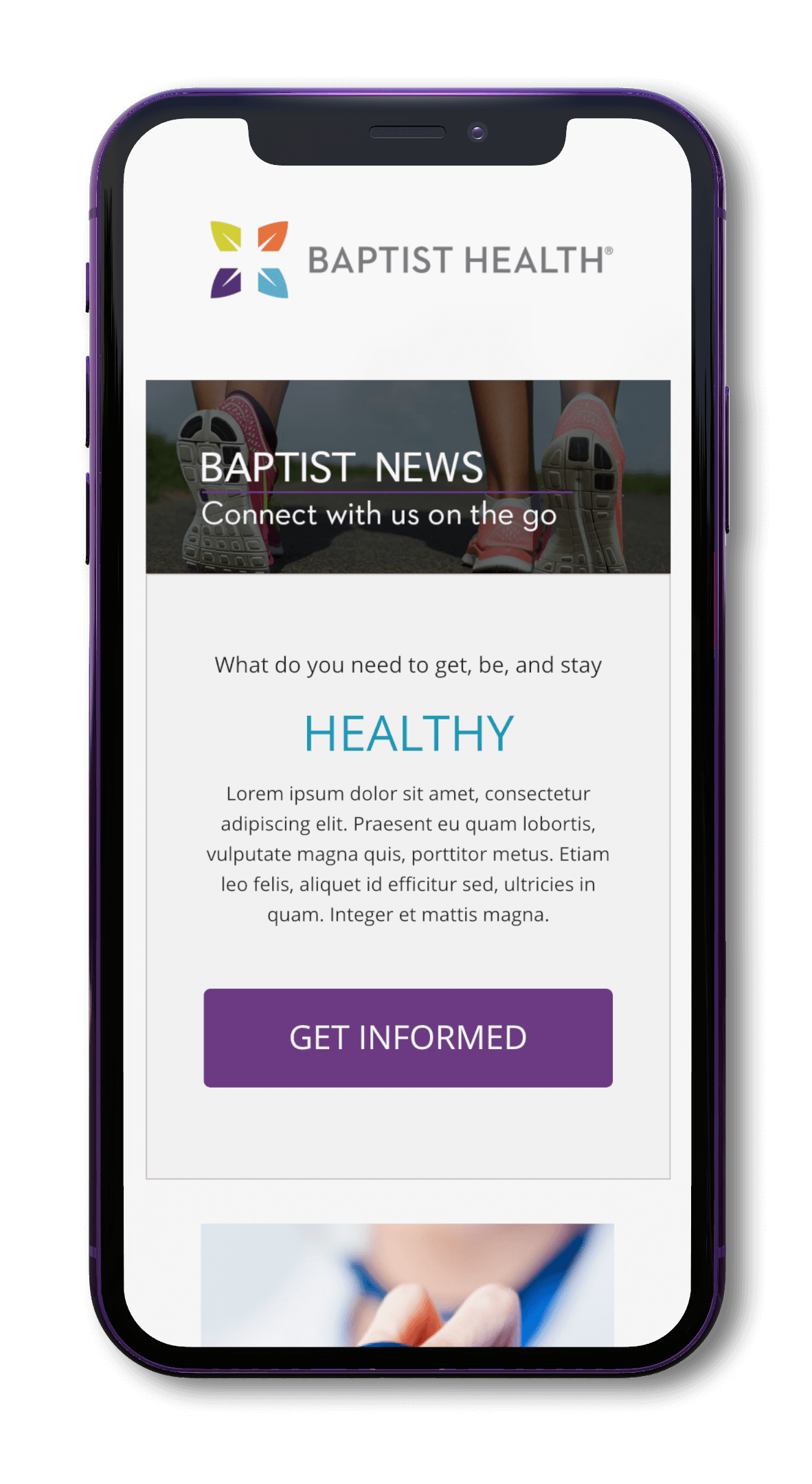 Baptist Health Email Template Preview