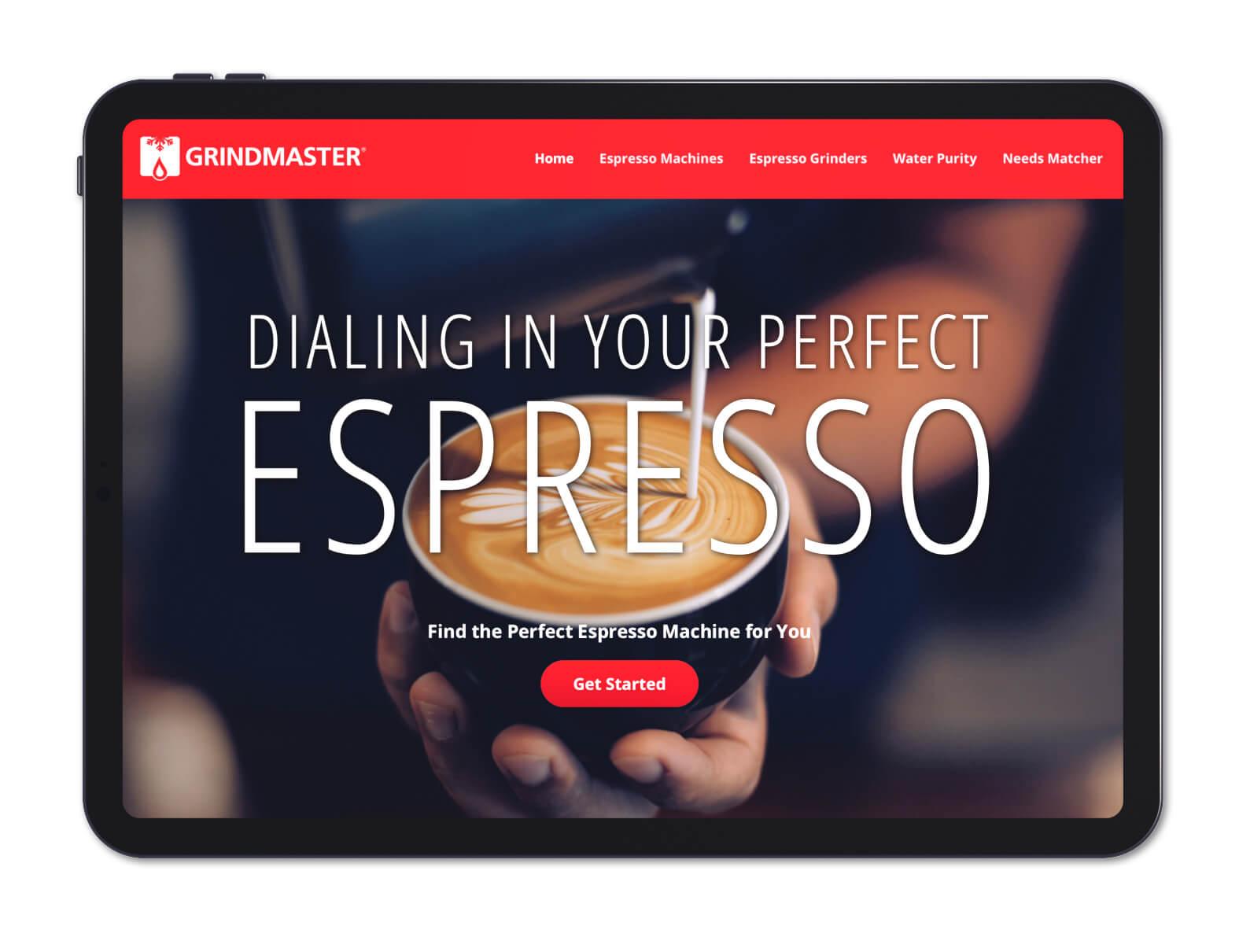 Grindmaster Espresso Microsite Preview