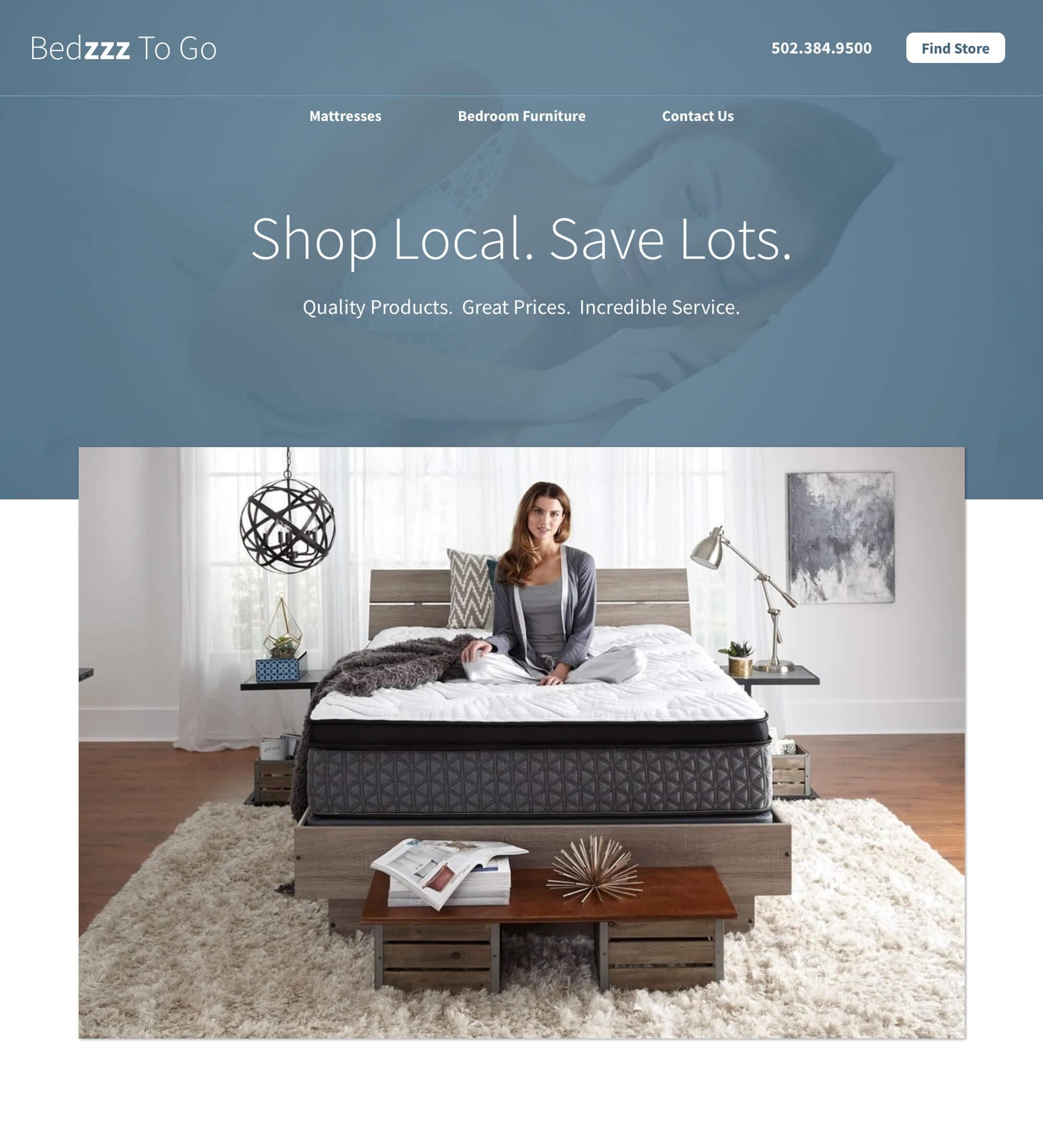 Bedzzz To Go Corporate Website