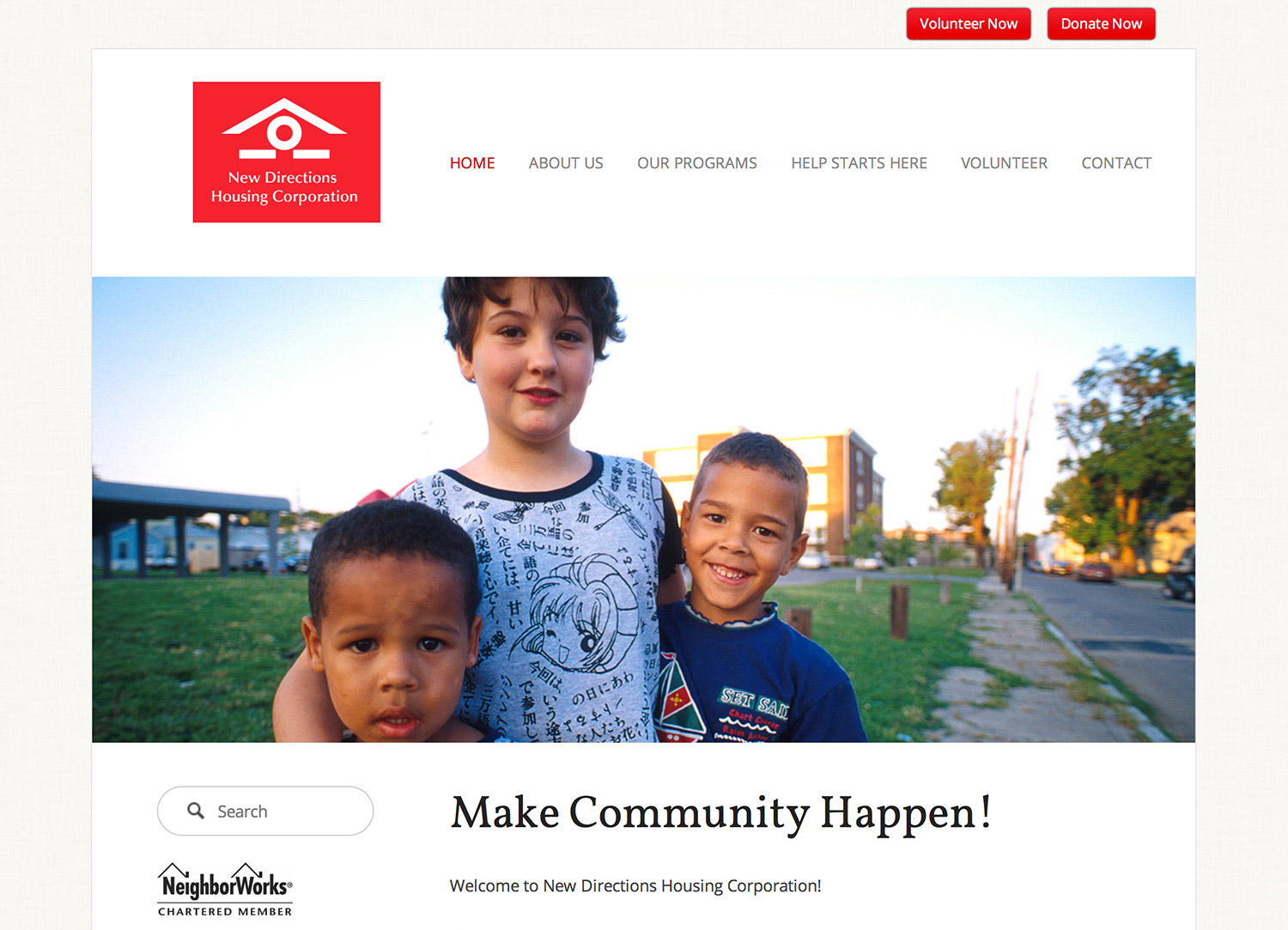 New Directions Housing Website