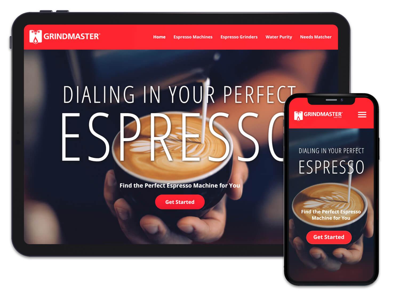 Grindmaster Espresso Microsite