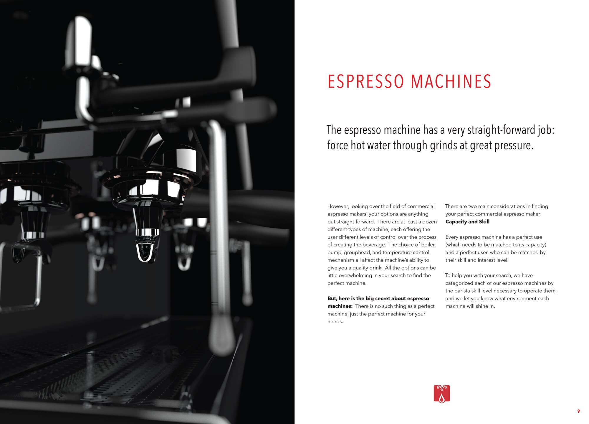 Grindmaster Espresso Brochure Spread